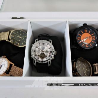 9 versch. Armbanduhren: Henty, RAPTOR,