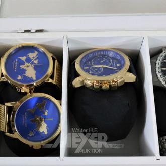 7 versch. Armbanduhren: Henty, RAPTOR,