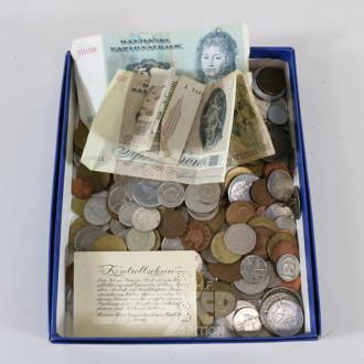 Posten versch. Münzen und Papiergeld