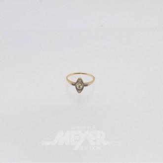 Damenring, 585er GG, ca. 2 g., Art Deco,