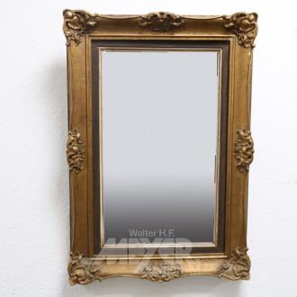 Wandspiegel, goldfarbener Rahmen,