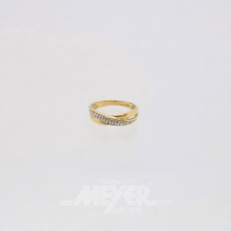 Damenring, 585er GG, Ringgröße: 57,