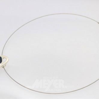 Drahtreif, Silber mit 5 Ringen