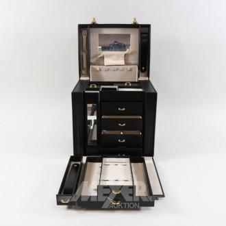 Schmuck-Koffer, Leder schwarz