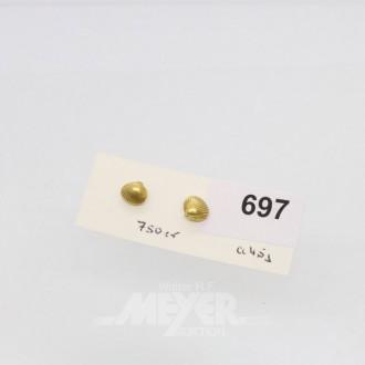 Paar Ohrstecker, 750er GG, ca. 4,5 g.