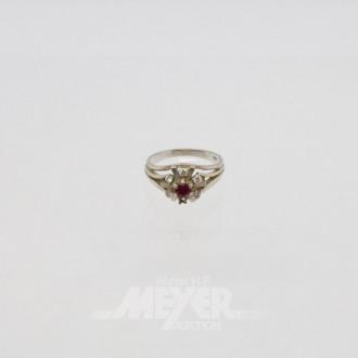 Ring, 585er WG, besetzt mit 1 Rubin