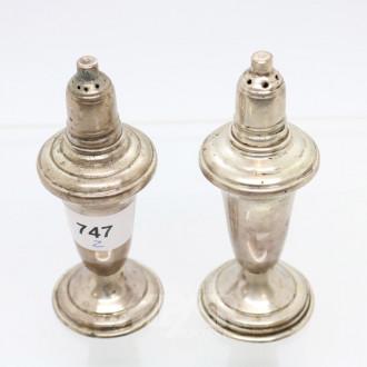 Paar Gewürzstreuer, 900er Silber