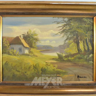 Gemälde ''Reetdachkate''