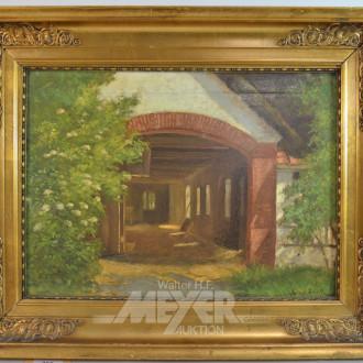 Gemälde ''Stall''