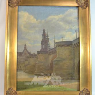 Gemälde ''Dresden, Hofkirche und