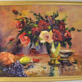 Gemälde ''Blumenstillleben mit Rosen''