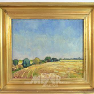Gemälde ''Blick über Getreidefelder''