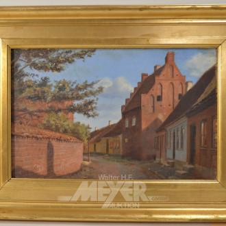 Gemälde ''Stadtansicht mit Kirche''