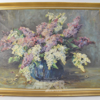 Gemälde ''Blumenstillleben mit Flieder''
