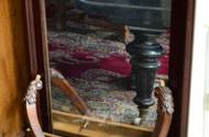 Spiegel, Mahagoni, 58 x 130 cm
