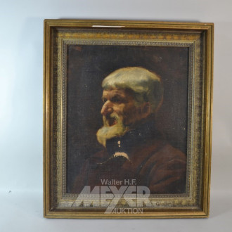 Gemälde ''Herren Portrait'' unsigniert