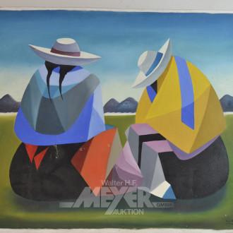2 Gemälde ''Peruanerin''