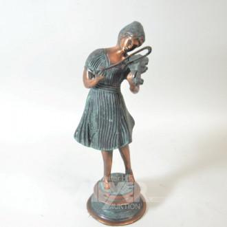 Bronze-Figur, ''Geigenspielerin''
