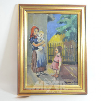 Gemälde ''Bäuerin mit Kinder''