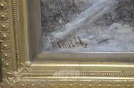 Gemälde, ''Winterliche Landschaft mit