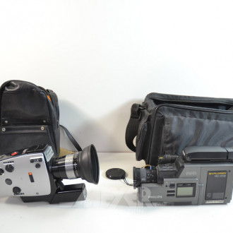 2 Video-Kamera u. 1 Super 8 Kamera