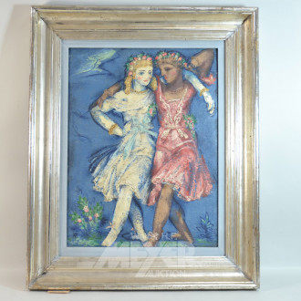 Gemälde ''Tanzende Blumenmädchen''